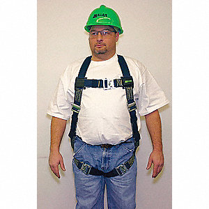 DuraLite Full Body Harness with 400 lb. Weight Capacity, Black, L/XL