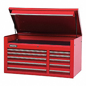 CHEST 50 10 DRAWERS RED