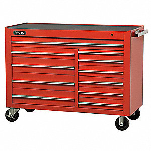 WORKSTATION 57 11 DRAWER RED