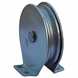 Pulley Block,Wire Rope,1550 lb Load Cap.