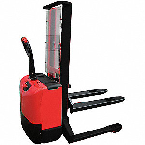 "Fixed Base Stacker, 2650 lb., Fork Width 7"", Fork Length 45"", Lifting Height Max. 137"""