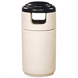 Trash Can,Round,23 gal.,Pebble Concrete