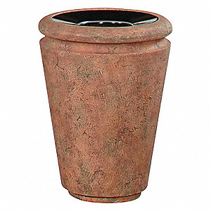 7 gal. Round Terra Cotta Trash Can