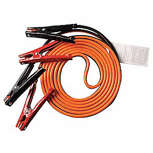 Standard Duty 16 ft. Standard Jaw Booster Cable, Orange/Black