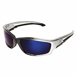 Kazbek Scratch-Resistant Safety Glasses, Blue Mirror Lens Color