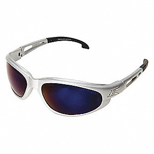 Dakura Scratch-Resistant Safety Glasses, Blue Mirror Lens Color