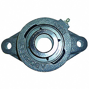 "Flange Bearing,2-Bolt,Ball,1"" Bore"