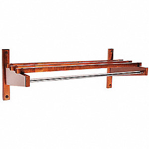 Coat Rack,Wood,12-3/4 x10-1/2 x 36 In.