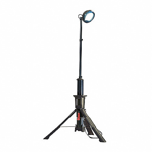 Sistema de luz de área remota,LED ,Tripié, Negro, 1200/2400 Lúmenes