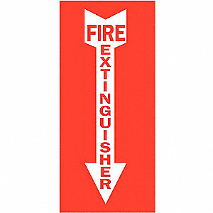 "Fire Equipment, No Header, Plastic, 14"" x 10"", With Mounting Holes, Not Retroreflective"
