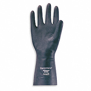 18.00 mil Neoprene Chemical Resistant Gloves, Black, Size 10, 1 PR