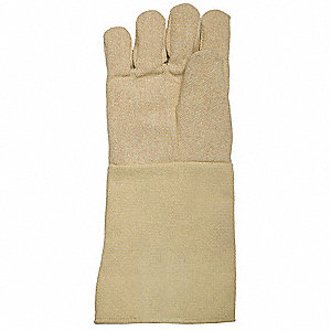 Heat Resistant Gloves, Kevlar ®/Cotton, 662°F Max. Temp., One Size Fits Most, PR 1