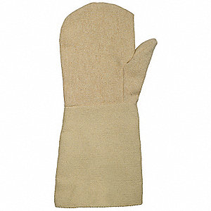 Heat Resistant Mittens, Kevlar ®/Cotton, 662°F Max. Temp., Men's L, PR 1