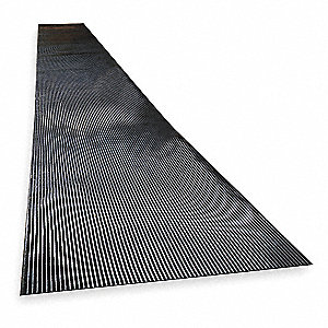 Switchboard Mat, Black, Corrugated, 75 ft. x 3 ft.