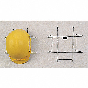 Sipco Products Nickel Plated Steel Hard Hat Rack With Wall
