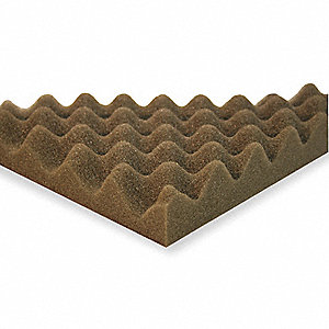 Acoustic Foam,Convoluted, Gray,3in,PK4