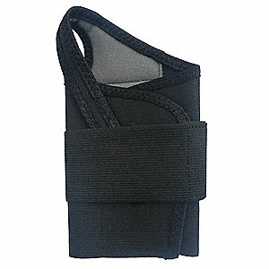 "Black Single Strap Wrist Support, Ergonomic Support Size: M, Fits 6 to 7"", Wrist: Right"