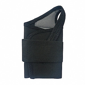 Single Strap Wrist Support, 50%Polyester / 35%Latex / 15%Nylon Material, Black, M