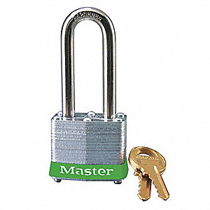 Green Lockout Padlock, Different Key Type, Master Keyed: No, Steel Body Material