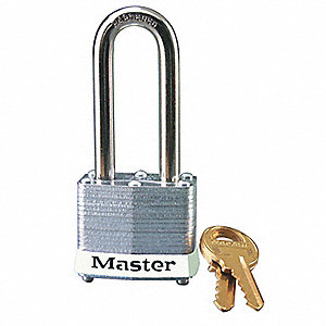 White Lockout Padlock, Different Key Type, Master Keyed: No, Steel Body Material