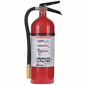 Dry Chemical Fire Extinguisher with 5 lb. Capacity and 19 to 21 sec. Discharge Time