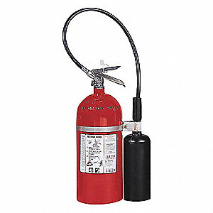 Fire Extinguisher, Carbon Dioxide, Carbon Dioxide, 10 lb., 10B:C UL Rating