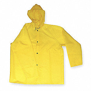 FR Rain Jacket with Hood,Yellow,2XL