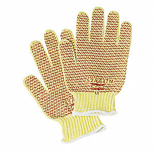 Cut Resistant Gloves,Yellow/Rust,M,PR