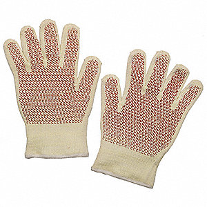 Heat Resistant Gloves, Kevlar ®/Cotton, 400°F Max. Temp., Men's XL, PR 1