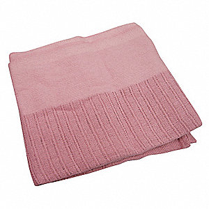 "90"" x 66"" Twin 100% Cotton Thermal Blanket, Rose"