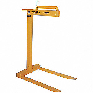 "Lightweight Pallet Lifter, 4000 lb., Fork Height 2"", Fork Length 36"", Fork Spacing 25"""