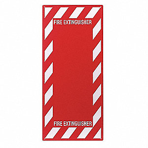 Fire Extinguisher Sign,29 x 13In,R/WHT