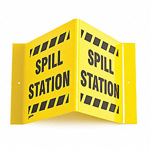 "Spill Station Sign,8"" x 15"",Acrylic"