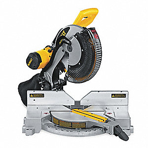 "Corded Miter Saw, 12"" Blade Dia., Slide: No, Bevel: Yes, 15.0 Amps, 3600 No Load RPM"