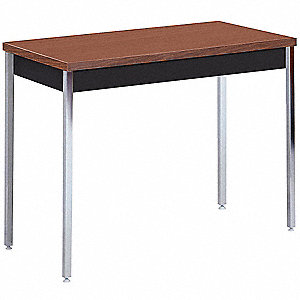 "40"" x 20"" x 24 to 36"" Utility Table with Walnut Tabletop and Black Frame"