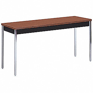 "72"" x 36"" x 24"" to 36"" Utility Table with Walnut Tabletop and Black Frame"