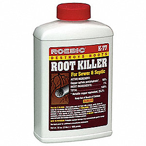 Root Killer, 2 lb. Bottle, 1 EA
