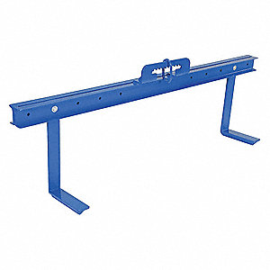 "Bar Stock Material Positioner, Adjustable Arm and Bail, 2000 lb., Max. Spread 72"", Min. Spread 24"""