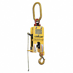 "Manual Release Hook, 36-13/32"", 5 ton, Opening Height Above Lift Arm 1-53/64"""