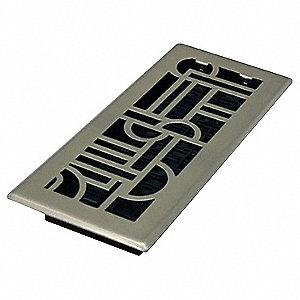 4X10 ART DECO STEEL PLATED NICKEL