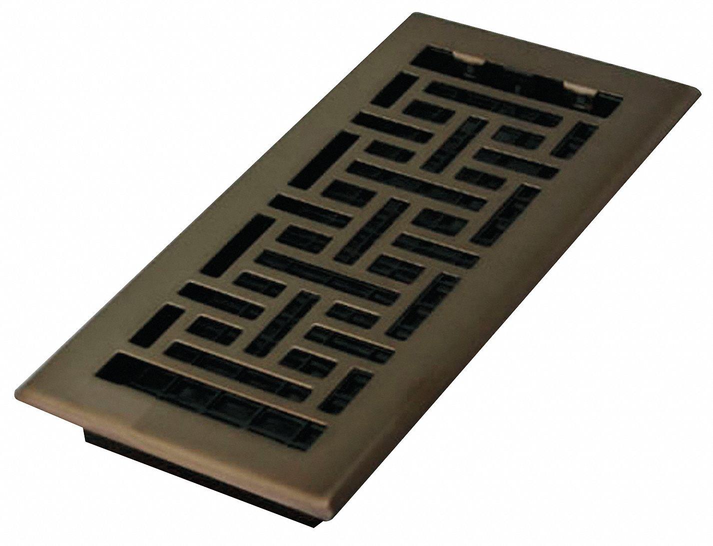 Decor Grates Floor Register 4x10 Rubbed Bronze 9 57 64 In Max Duct Height In 5tfj6 Ajh410 Rb Grainger