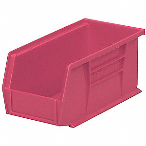 "Hang and Stack Bin, Berry, 10-7/8"" Outside Length, 5-1/2"" Outside Width, 5"" Outside Height"