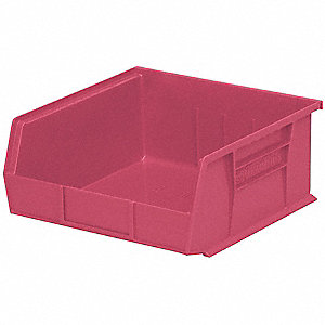 "Hang and Stack Bin, Berry, 14-3/4"" Outside Length, 16-1/2"" Outside Width, 7"" Outside Height"