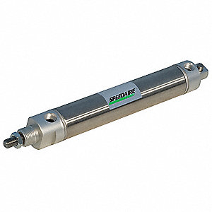 "3/4"" Bore Dia. with 3"" Stroke Stainless Steel , Pivot Mounted Air Cylinder"