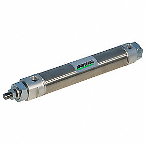 "9/16"" Air Cylinder Bore Dia. with 10"" Stroke Stainless Steel , Double End Mounted Air Cylinder"