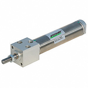 "1-1/2"" Air Cylinder Bore Dia. with 4"" Stroke Stainless Steel , Block Mounted Air Cylinder"