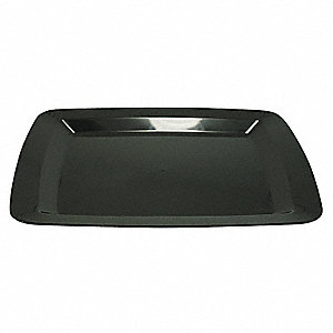 Polystyrene Disposable Serving Tray, Black&#x3b; PK24