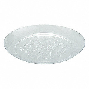 15 Oz Round Dish and Lid, Clear&#x3b; PK300