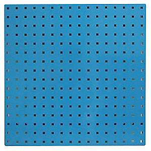 "24"" x 24"" Steel Pegboard with 300 lb. Load Rating, Blue"