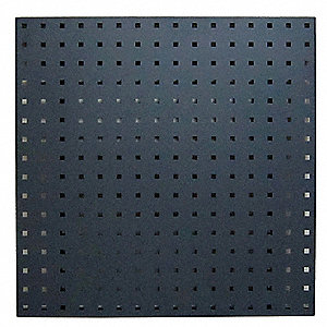 "24"" x 24"" Steel Pegboard with 300 lb. Load Rating, Gray"
